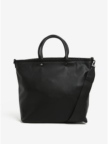 Černá kabelka do ruky s jemným vzorem Nalí