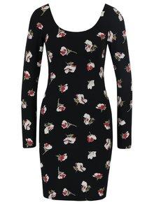 Černé květované pouzdrové šaty Miss Selfridge