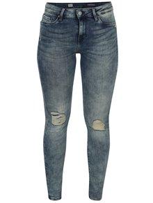 Modré dámské skinny džíny s vyšisovaným efektem Tommy Hilfiger Como
