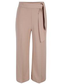 Starorůžové culottes kalhoty se zavazováním Miss Selfridge