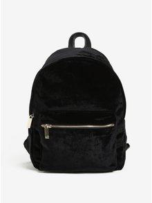 Černý sametový batoh se zipem ve zlaté barvě Nalí