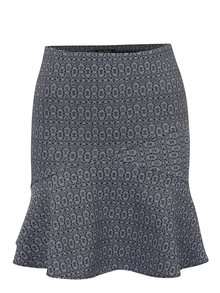 Fusta negru&crem cu model geometric Miss Selfridge
