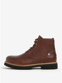 Hnědé pánské kožené kotníkové boty Tommy Hilfiger Louis
