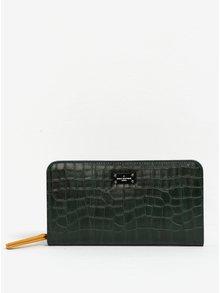 Portofel verde închis cu model piele de șarpe Paul's Boutique Carla