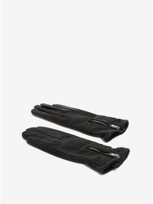 Manusi negre din piele cu captuseala de casmir si fermoar pentru femei Royal RepubliQ