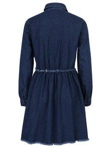 Modré rifľové košeľové šaty Miss Selfridge
