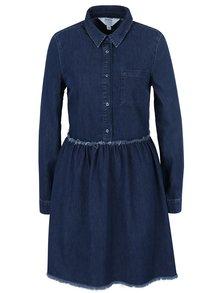 Modré džínové košilové šaty Miss Selfridge
