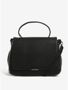 Černá kabelka do ruky s kovovou aplikací Nalí