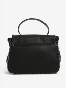 Čierna kabelka do ruky s kovovou aplikáciou Nalí