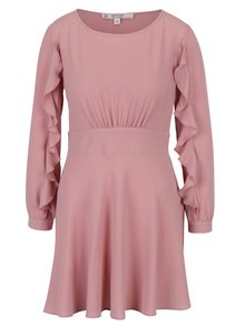Staroružové šaty s volánmi Miss Selfridge Petites
