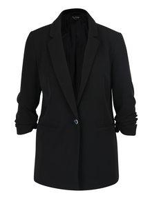 Čierne sako s nazberkaným rukávom Miss Selfridge