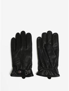 Černé pánské kožené rukavice s kašmírovou podšívkou Royal RepubliQ