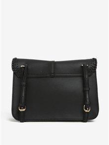 Čierna crossbody kabelka s detailmi v zlatej farbe Nalí