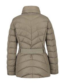 Béžová dámská prošívaná bunda s páskem Geox