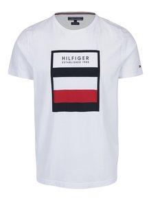 Biele pánske tričko s potlačou Tommy Hilfiger Norman