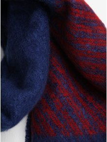 Modrý dámsky vzorovaný šál Tommy Hilfiger Blanket
