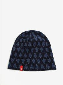 Tmavomodrá vzorovaná chlapčenská čapica z Merino vlny Reima Dimma