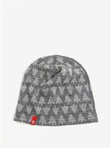 Sivá vzorovaná chlapčenská čapica z Merino vlny Reima Dimma
