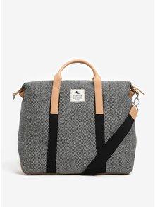 Čierno-biela cestovná taška Clarks The Moorgate