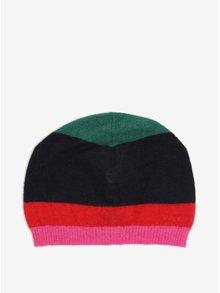 Červeno-modrá pánská vlněná pruhovaná čepice GANT