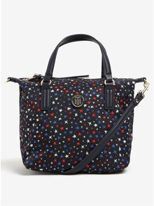 Tmavomodrá vzorovaná crossbody kabelka/taška do ruky Tommy Hilfiger Poppy