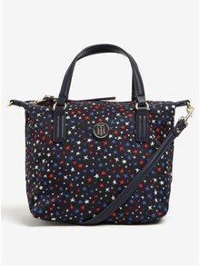 Tmavě modrá vzorovaná crossbody kabelka/taška do ruky Tommy Hilfiger Poppy