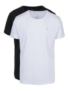 Súprava dvoch pánskych tričiek v bielej a čiernej farbe GANT
