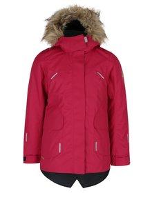 Ružová dievčenská funkčná vodovzdorná bunda s kapucňou Reima Sisarus