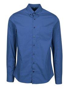 Modrá formální super slim fit košile Braiconf Baltazar
