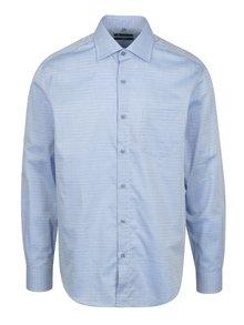 Modrá formální vzorovaná slim fit košile Braiconf Maxmilian