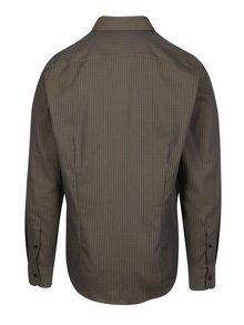 Hnedá vzorovaná formálna slim fit košeľa Braiconf Maxmilian
