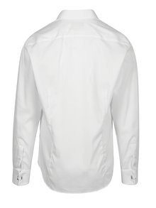 Cămașă albă slim fit cu dungi  Braiconf Costin