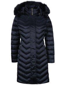 Tmavomodrý dámsky prešívaný páperový kabát Geox