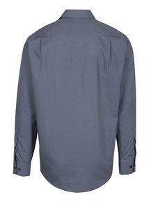 Tmavomodrá vzorovaná formálna regular fit košeľa Braiconf Nicoara