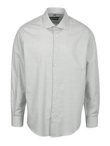 Krémová vzorovaná regular fit košeľa Braiconf Nicoara