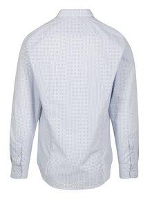 Modro-biela vzorovaná formálna slim fit košeľa Braiconf Nicoara