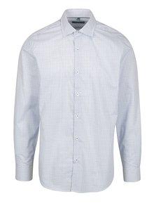 Modro-bílá vzorovaná formální slim fit košile Braiconf Nicoara