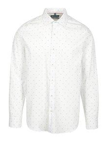 Bílá vzorovaná formální slim fit košile Braiconf Nicoara