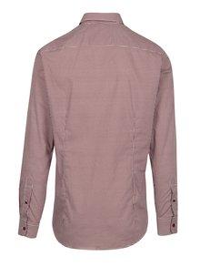 Vínová vzorovaná formální slim fit košile Braiconf Nicoara