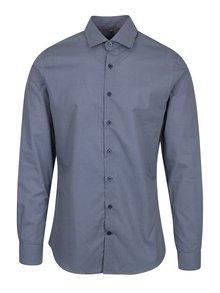 Tmavě modrá vzorovaná formální super slim fit košile Braiconf Nicoara