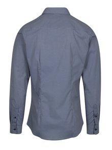 Tmavomodrá vzorovaná formálna super slim fit košeľa Braiconf Nicoara