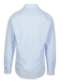Bílo-modrá pruhovaná formální slim fit košile Braiconf Flaviu