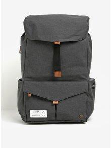 Tmavě šedý funkční batoh na notebook s přední kapsou PKG