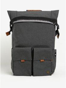Tmavosivý funkčný batoh na notebook s dvoma prednými vreckami PKG