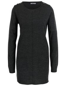 Tmavě šedý dlouhý svetr s kapsami Haily´s Tamara