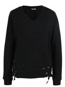 Tricou negru cu șireturi laterale Haily´s Pulli Lea