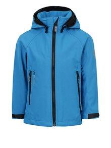 Modrá chlapčenská vodovzdorná softshellová bunda s kapucňou Reima Zayak