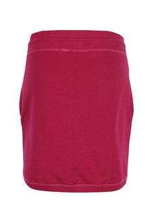 Tmavoružová tepláková sukňa s vreckami Tranquillo Amaia