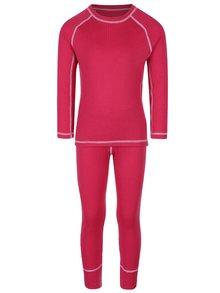 Súprava ružových dievčenských funkčných spodných nohavíc a trička Reima Cepheus