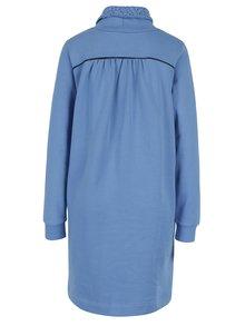 Modré mikinové šaty s vysokým golierom a vreckami Tranquillo Maitagorry